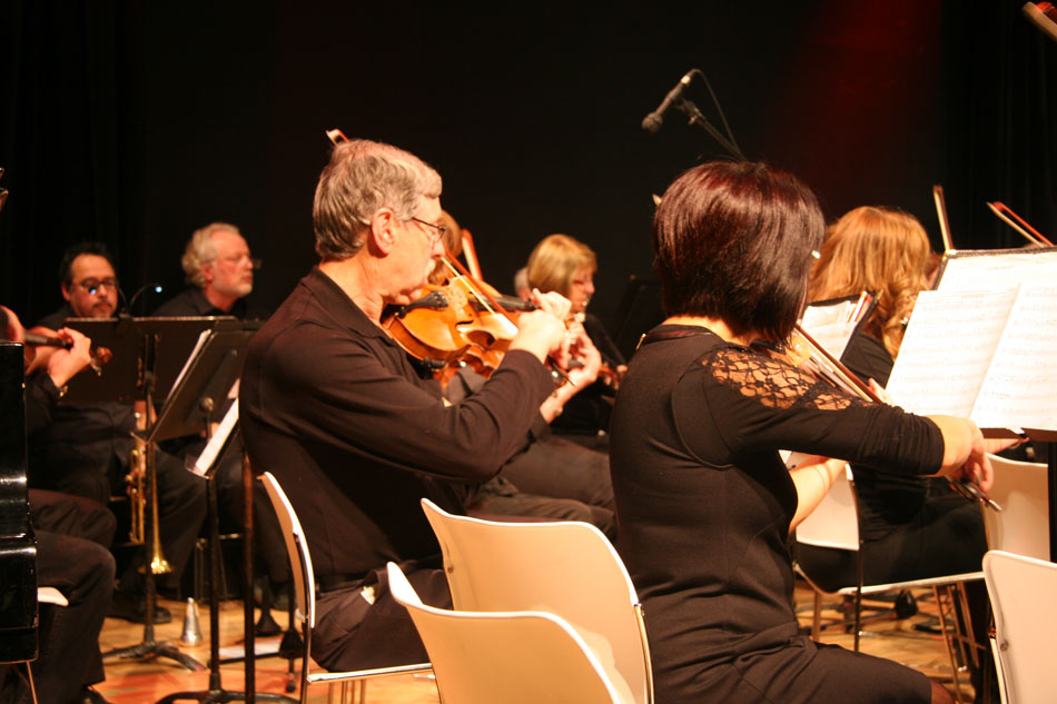 Several Winnipeg Pops Orchestra String Players